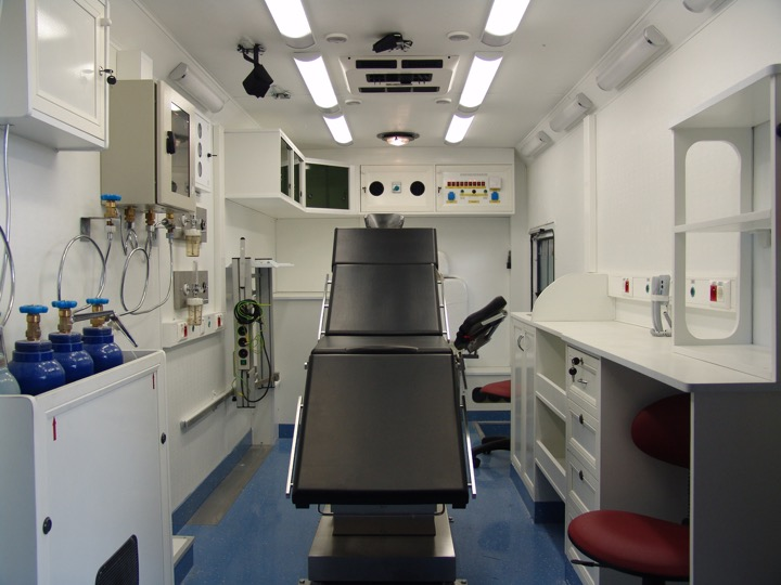 Mobile Surgery and Intensive Care Unit